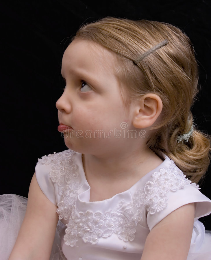 Pouting royalty free stock images