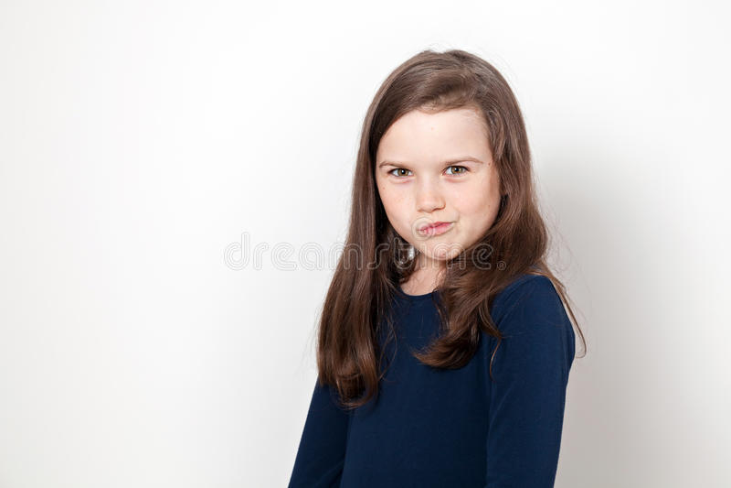 Pouting Girl stock image