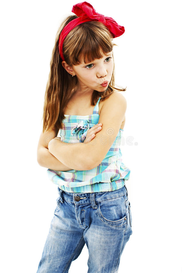 Download Pouting little girl stock photo. Image of child, enjoy - 30614352