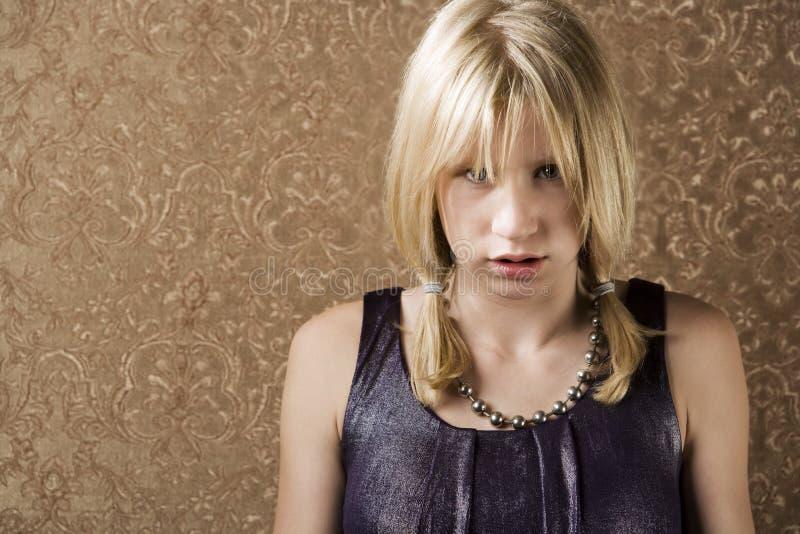 Download Pouting teenage girl stock photo. Image of juvenile, dress - 6589330
