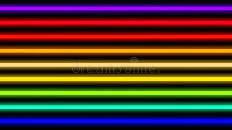 Poutre colorée de lampe au néon horizontale pour le fond, de poutre géométrique d'éclat de lumière de disco lignes verticales hor illustration libre de droits