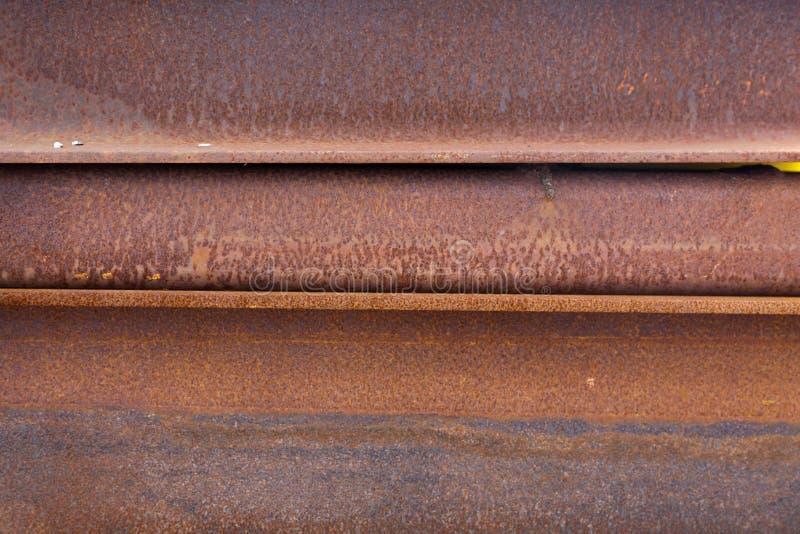 Poutres en acier rouillées photographie stock