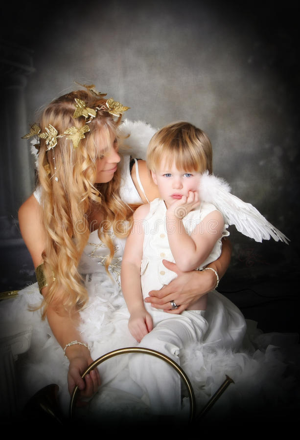 pouty的天使 库存图片