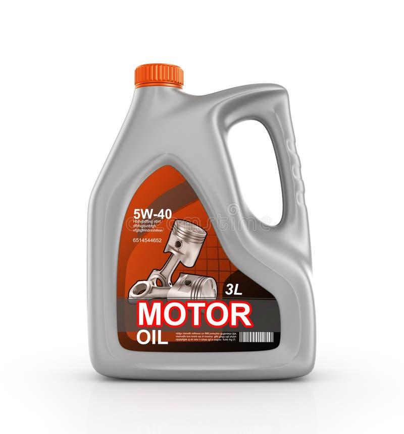 Pouvez d'huile de moteur illustration stock