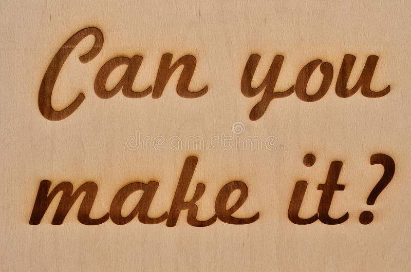 Pouvez-vous le faire ? photo libre de droits