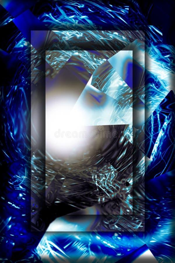 Pouvoir abstrait, lisht, substance 2 illustration stock