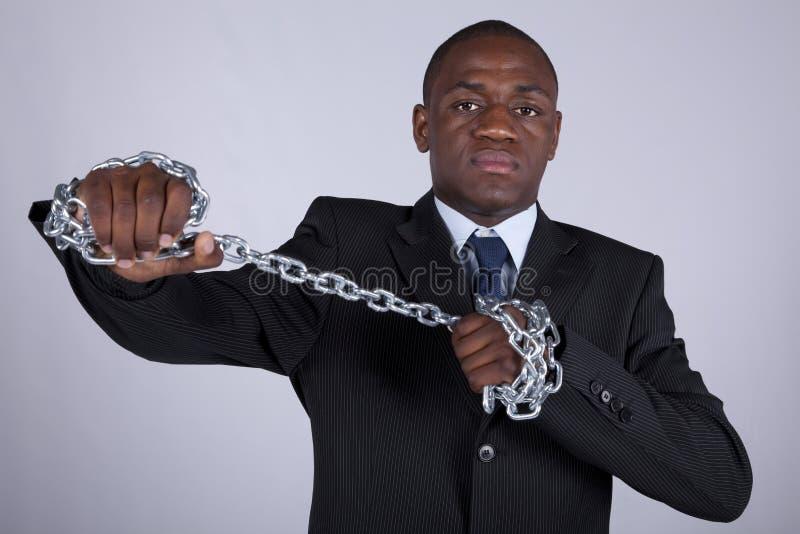 Pouvoir africain d'affaires photo stock