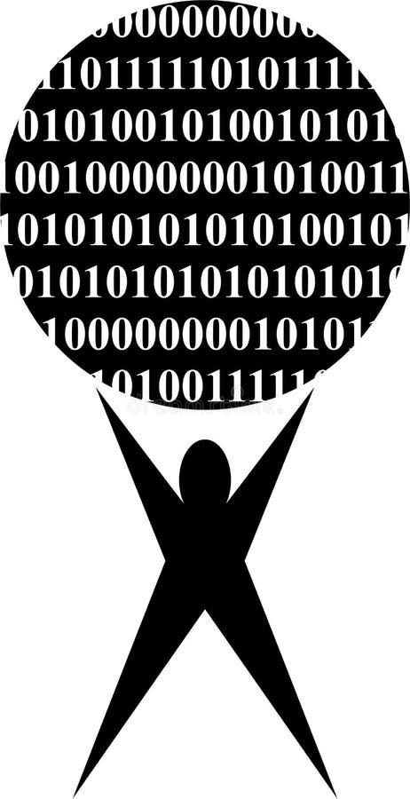 Pouvoir binaire illustration libre de droits