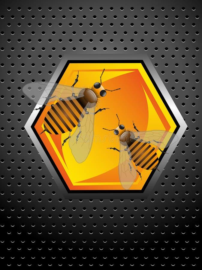 Pouvoir d'abeille illustration libre de droits