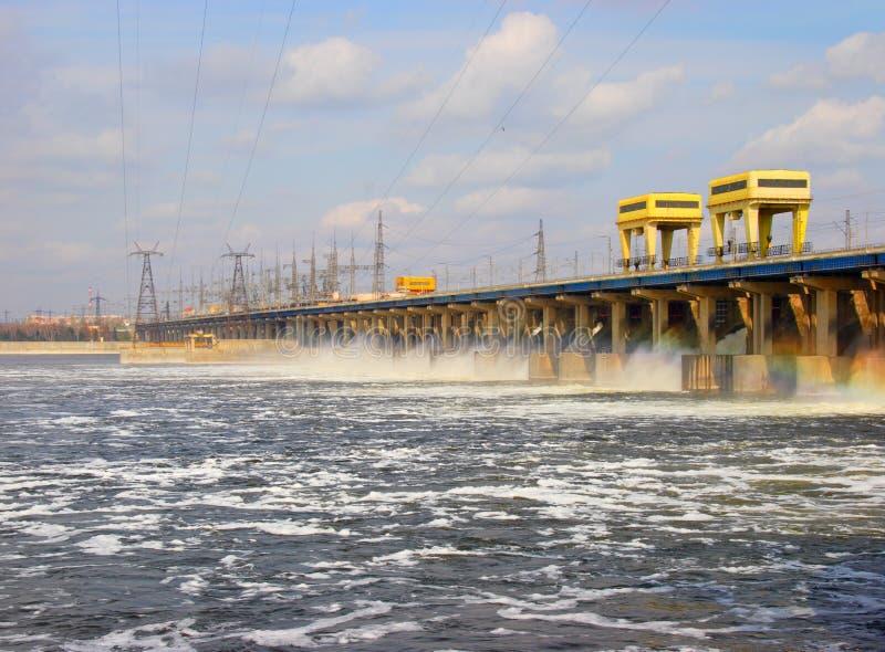 pouvoir de centrale hydro-électrique image libre de droits