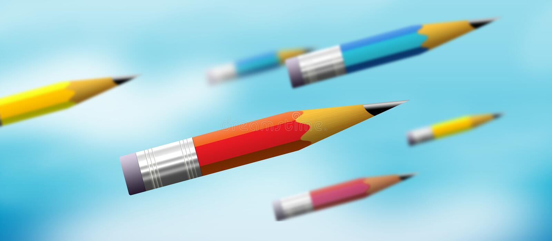 pouvoir de crayon illustration libre de droits