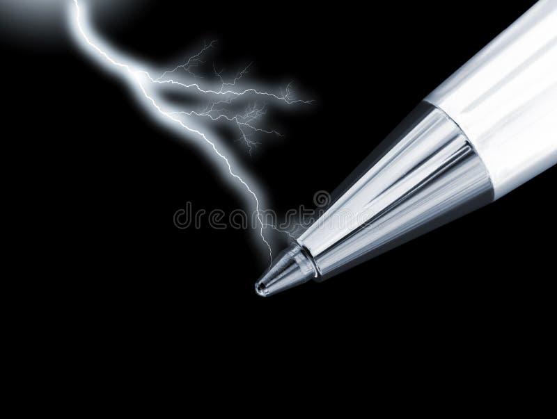pouvoir de crayon lecteur images stock