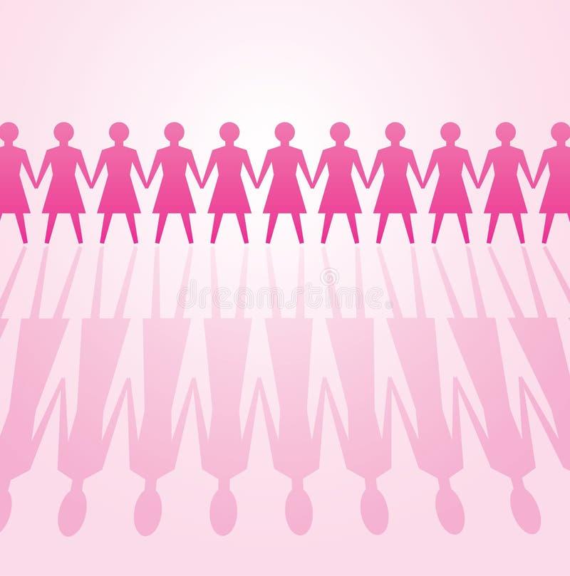 Pouvoir de femme illustration libre de droits