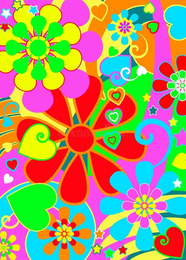 Pouvoir de fleur élégant de hippie illustration de vecteur