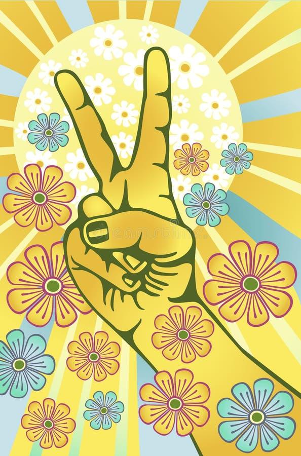 Pouvoir de fleur illustration de vecteur