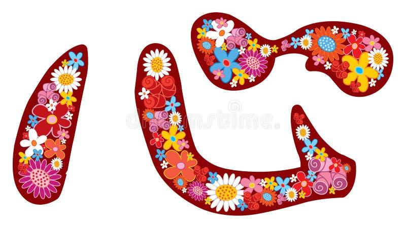 Pouvoir de fleur chinois de COEUR illustration stock