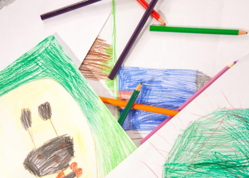 Pouvoir de fleur - crayons photographie stock libre de droits