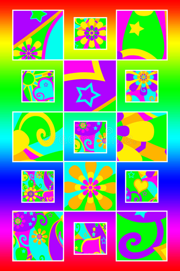 Pouvoir de fleur routinier illustration libre de droits