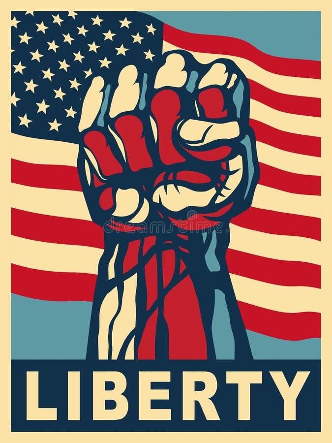 Pouvoir de la liberté. illustration stock