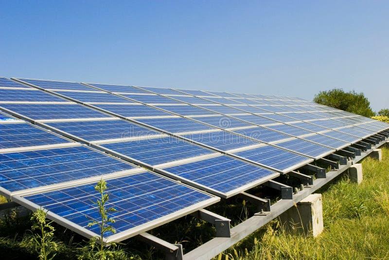 pouvoir de porcelaine solaire images stock