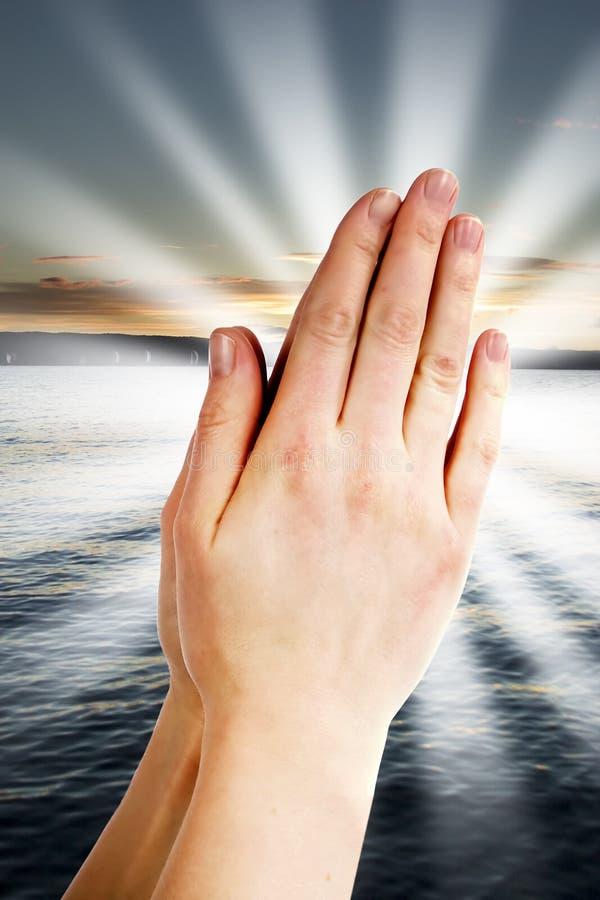 Pouvoir de prière photographie stock libre de droits