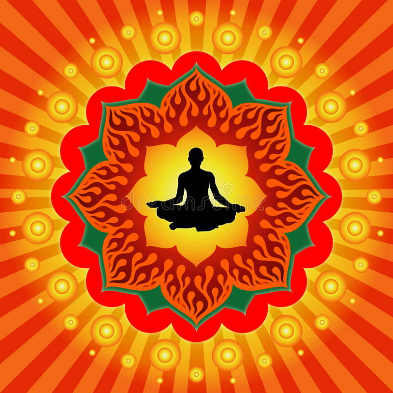Pouvoir de yoga illustration de vecteur