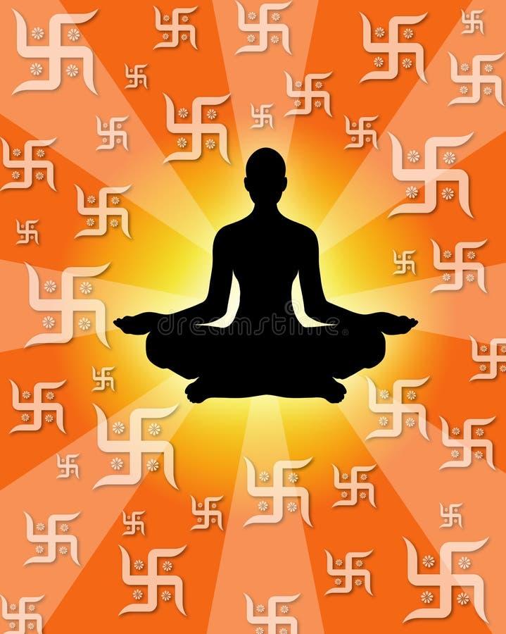 Pouvoir de yoga illustration libre de droits