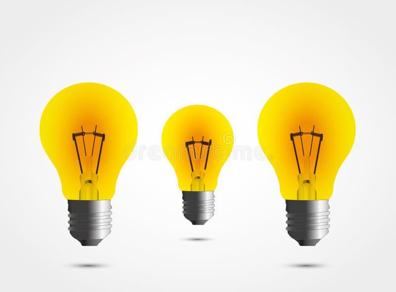 Pouvoir des lampes. illustration de vecteur