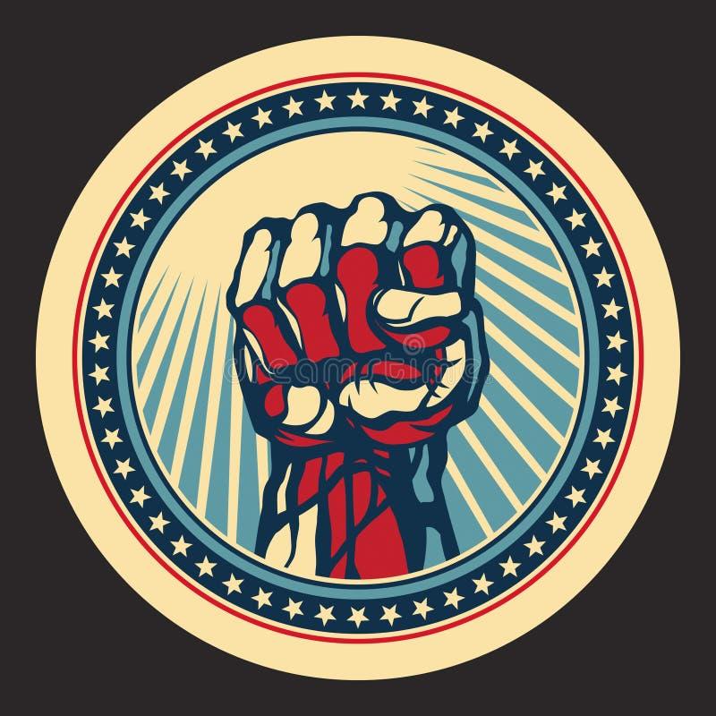 Pouvoir et concept de protestation. illustration libre de droits
