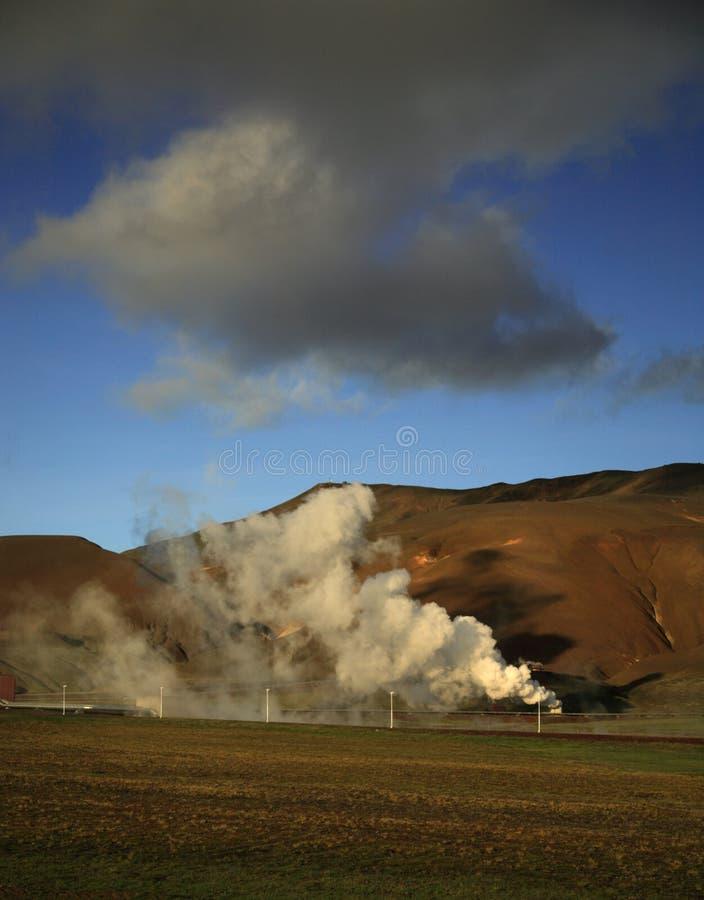 Pouvoir géothermique image libre de droits