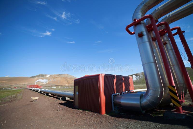 Pouvoir géothermique photographie stock