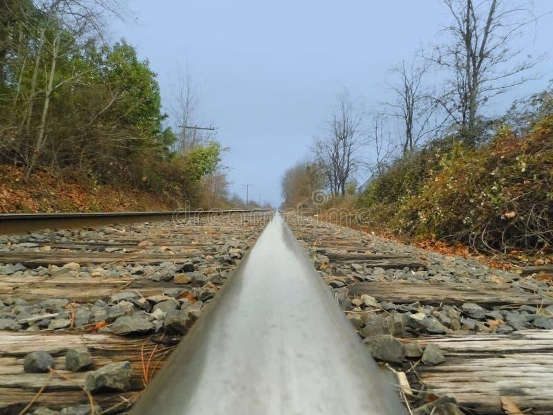 Pov-järnväg arkivfoto