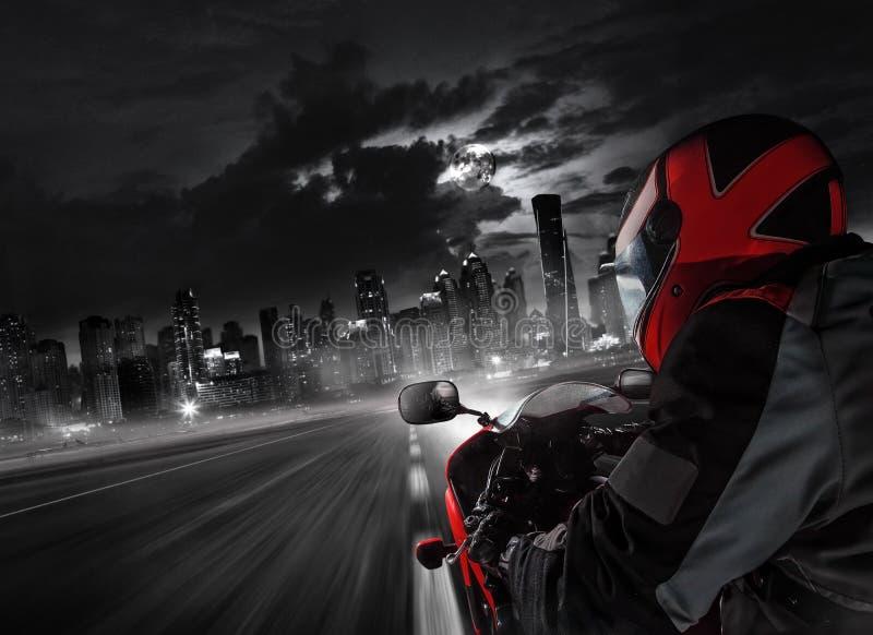 POV super sporta motocyklu kierowca obrazy royalty free