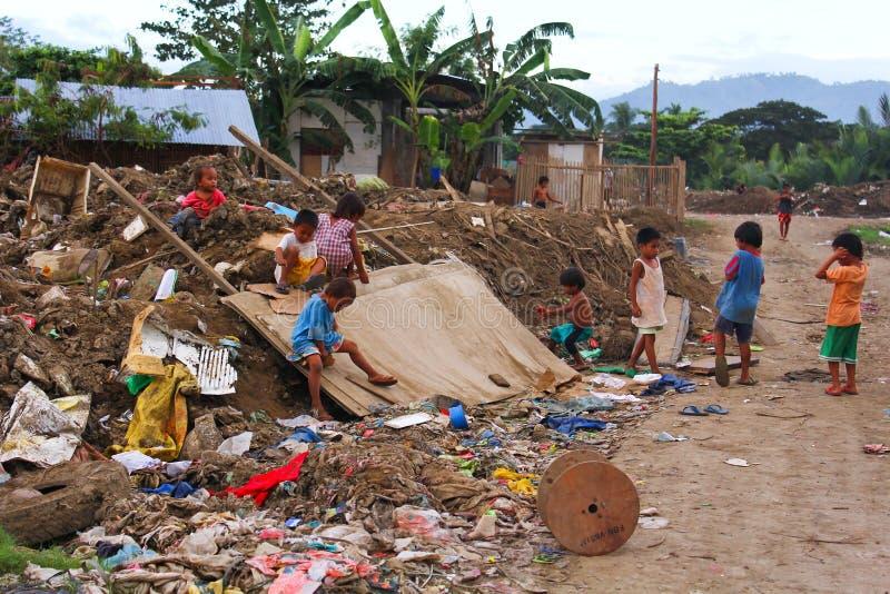 Povertà in Asia fotografia stock libera da diritti