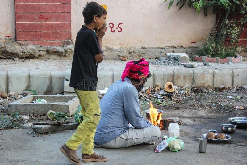 Povertà India dei bassifondi fotografie stock libere da diritti