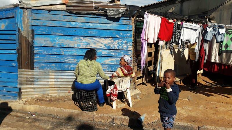 Povertà nel Sudafrica fotografia stock