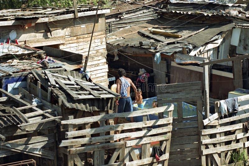 Povertà pura dell'Argentina nei bassifondi di Cava della La fotografia stock
