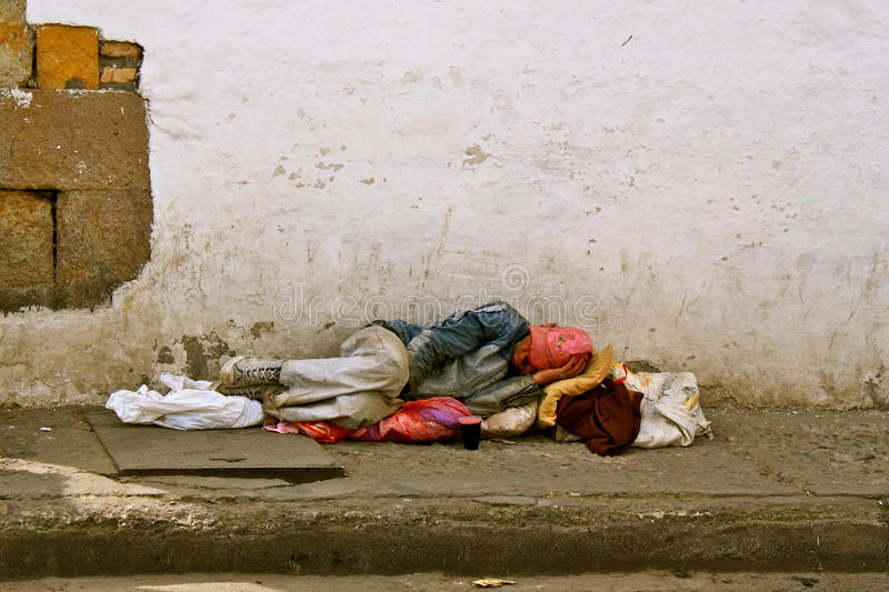 Poverty, Colombia royalty free stock image