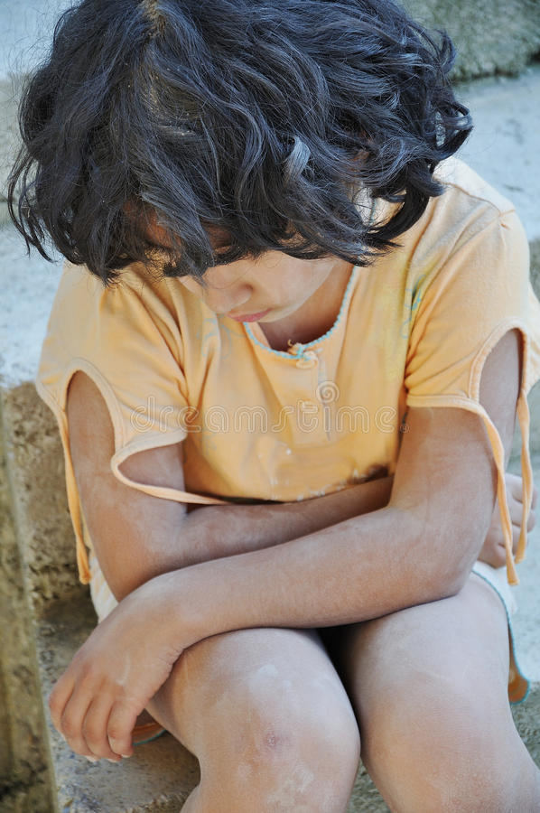 Download Poverty And Poorness On The Expression Of Children Stock Photo - Image: 10846662