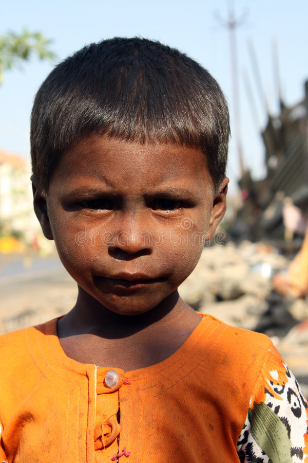 Download Poverty Portrait stock photo. Image of helpless, little - 8564954