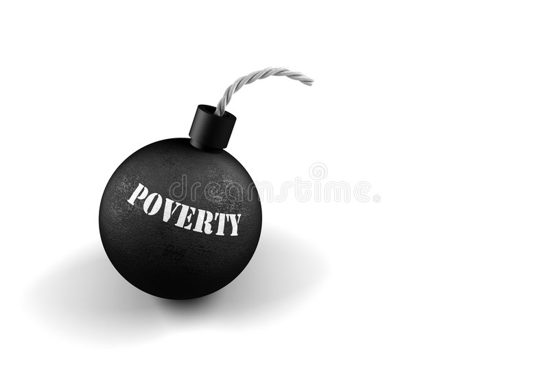 Download Poverty Time Bomb stock illustration. Illustration of metaphorical - 5187528