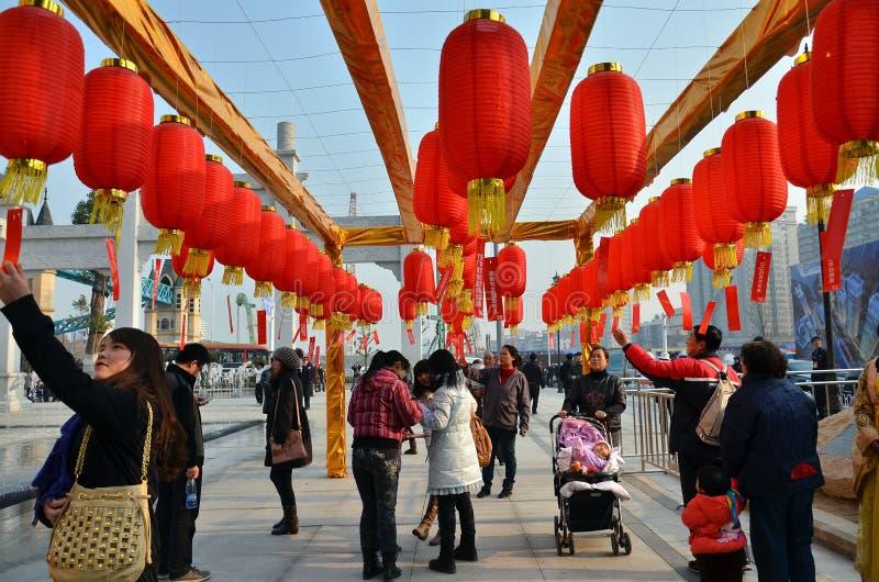 Povo chinês que tem o divertimento imagens de stock royalty free