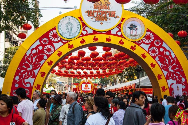 Povo chinês tailandês, Banguecoque fotos de stock
