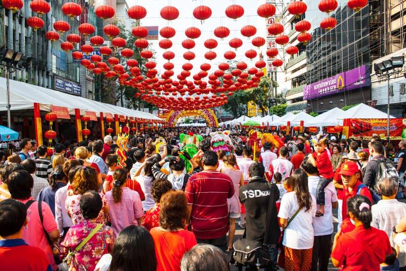 Povo chinês tailandês, Banguecoque imagens de stock