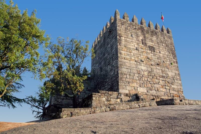 Povoa de Lanhoso, Portugal Halten Sie vom Schloss lizenzfreies stockfoto