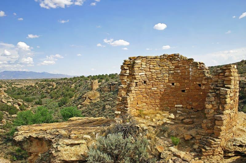 Povoado indígeno antigo em Hovenweep fotos de stock royalty free