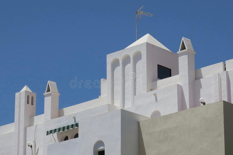 Povoado indígeno Blanco, casa em Competa imagens de stock royalty free