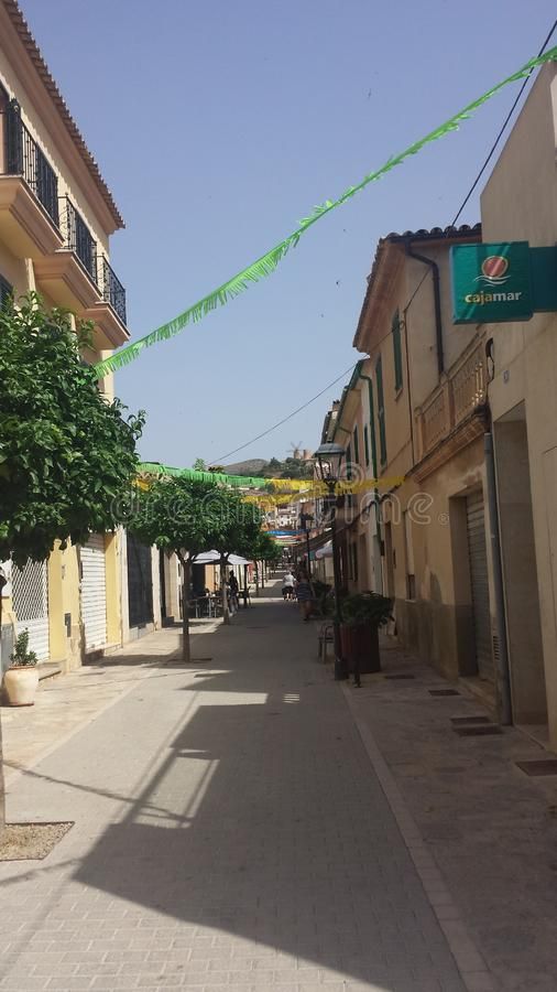 Povoado indígeno Calle Majorca Fiesta de Andratx fotos de stock