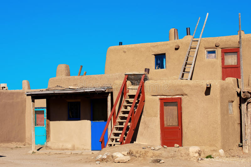 Povoado indígeno de Taos fotos de stock royalty free