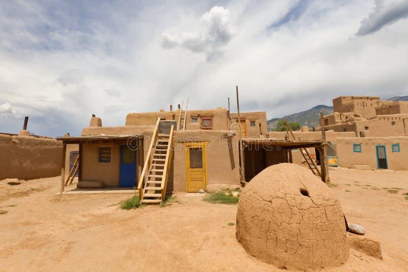 Povoado indígeno de Taos fotografia de stock royalty free